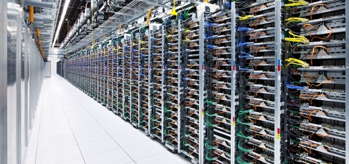 'Rack' met servers. Foto: Google