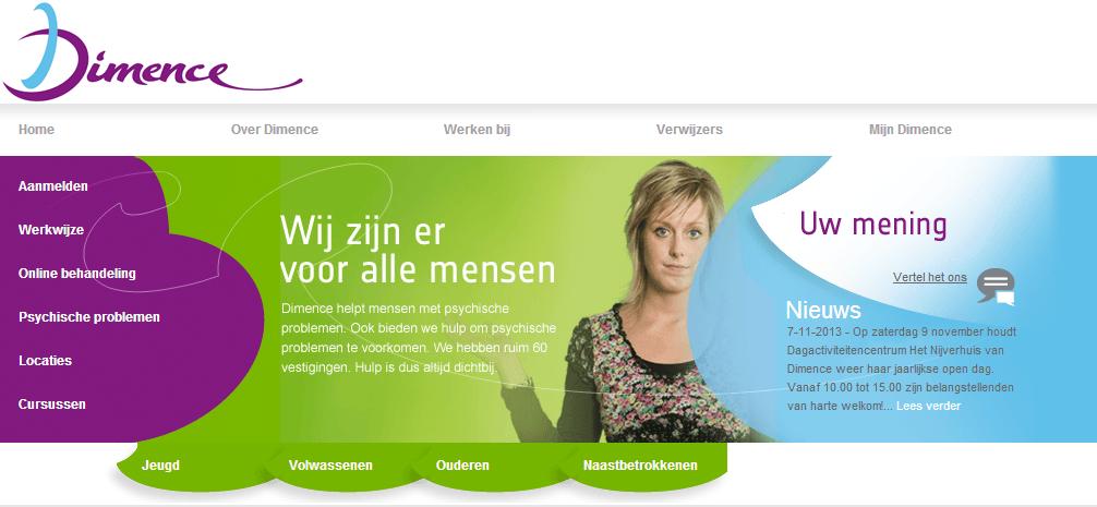 Dimence.nl; met GGZ Noord-Holland