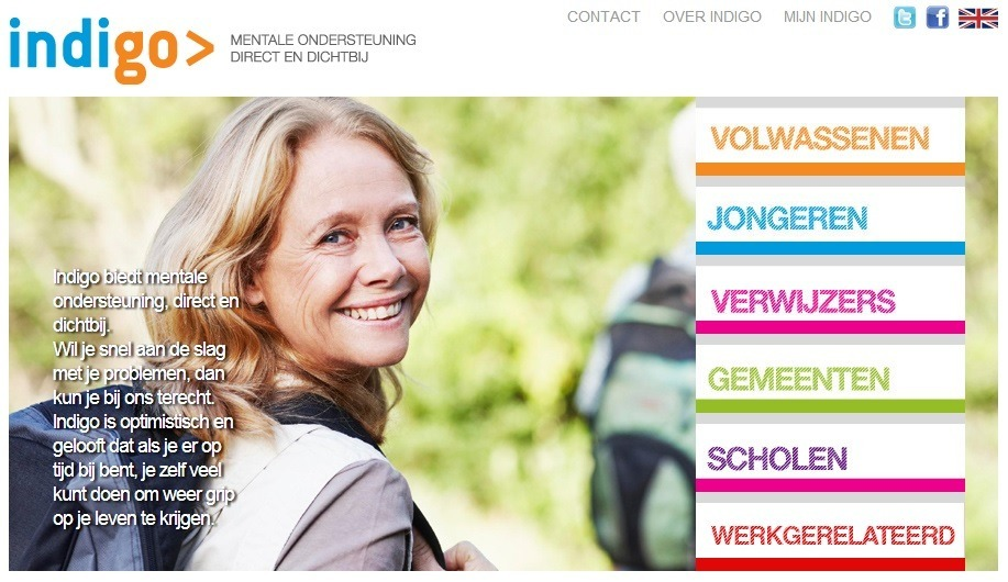 Indigo.nl; website van Parnassia Groep
