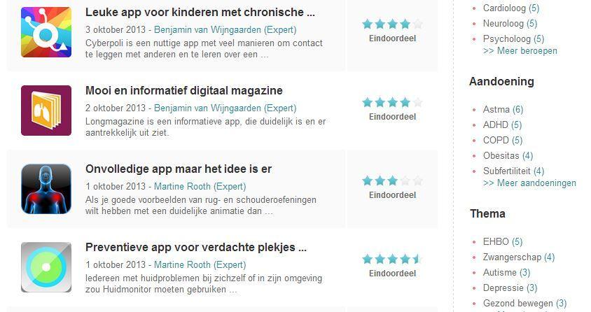 Experts beoordelen apps op de DigitaleZorgGids