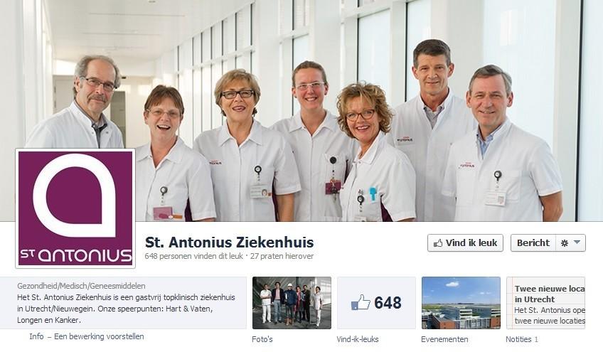 St. Antonius ziekenhuis op Facebook
