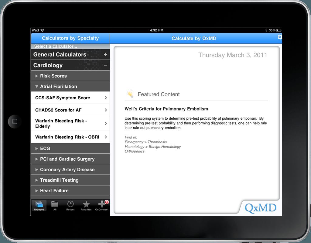 Calculate app door QXMD