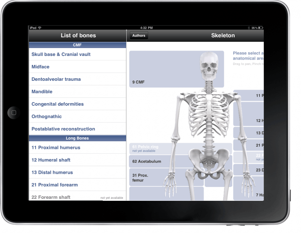 AO Surgery Reference app
