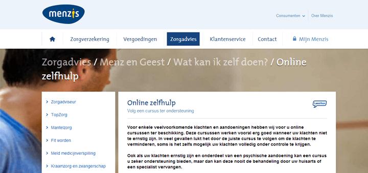 Menz en Geest, een online portaal met informatie over psychische klachten