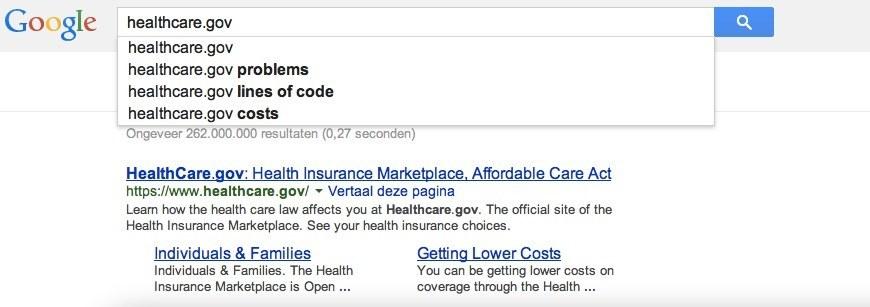 Healthcare.gov google