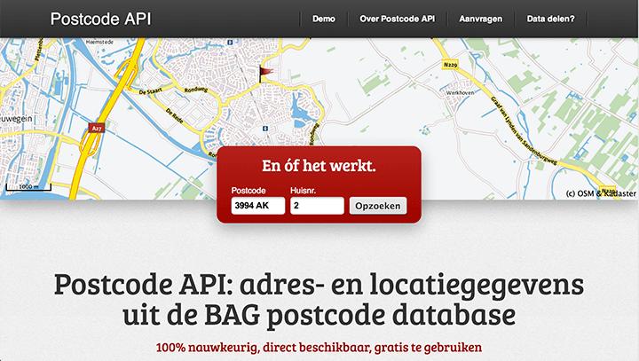 Open data: Internetbureau Freshheads gebruikt Kadasterdata voor postcodeservice