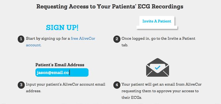 Artsen kunnen online toegang aanvragen tot de ECG's van hun patienten
