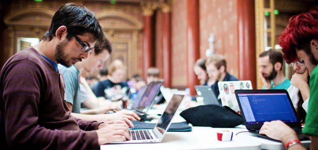 Een recente 'hack-a-thon' in''Parijs