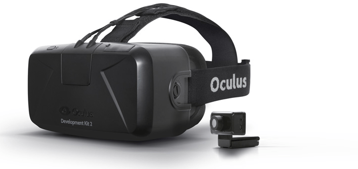 Een van de eerste VR-brillen van Oculus (inmiddels overgenomen door Facebook)