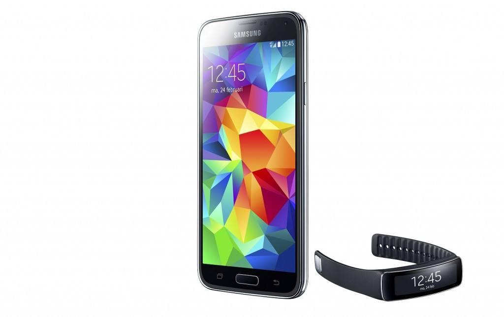 De Galaxy S5 en de Gear Fit
