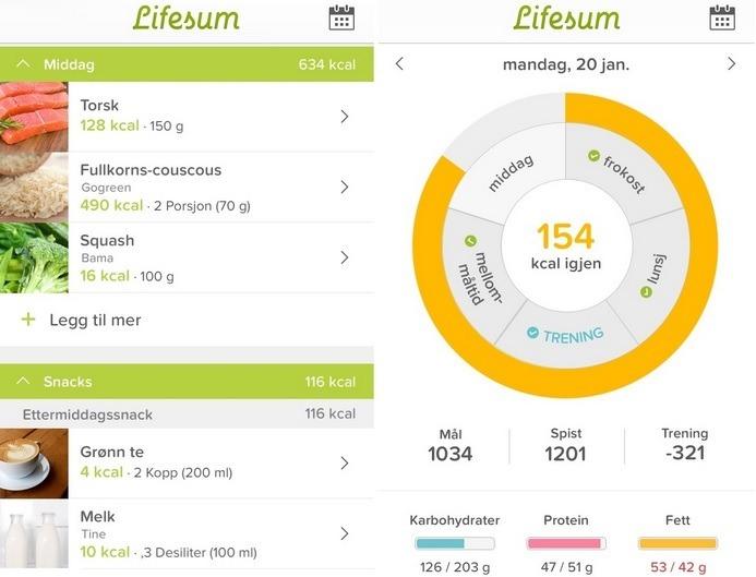 app calorieën tellen