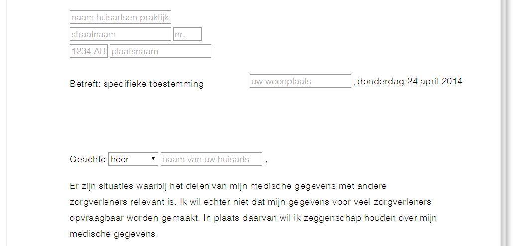 voorbeeldbrief opvragen dossier Kan iedere zorgverlener bij al je medische gegevens?   SmartHealth voorbeeldbrief opvragen dossier