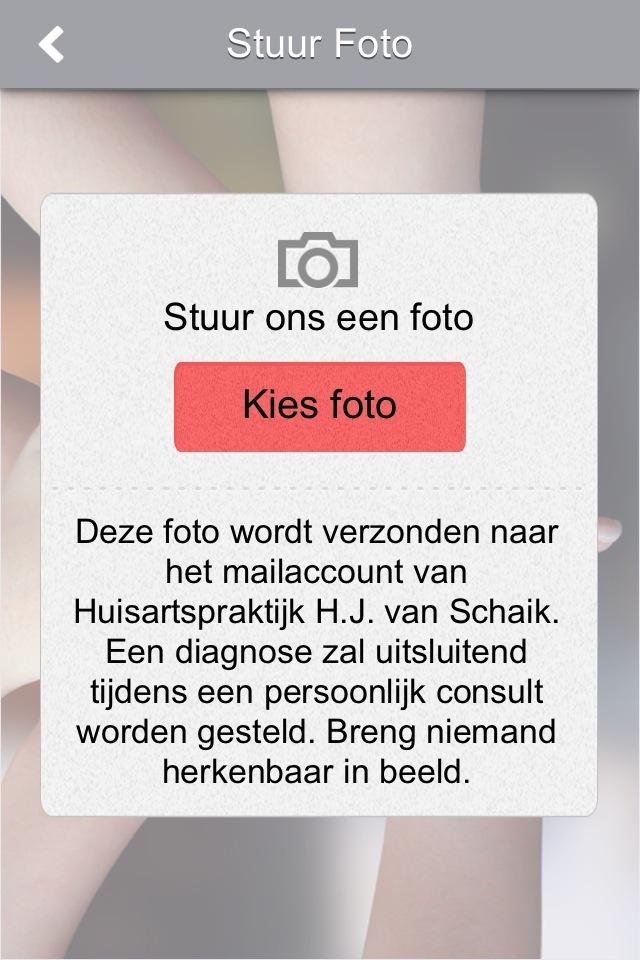 Een waarschuwing in de app: 'Breng niemand herkenbaar in beeld'