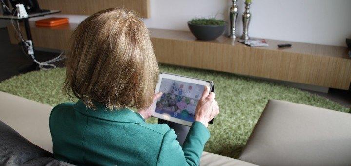 Koepelorganisatie (o.a. thuiszorg) Patein werkt ook met beeldbellen via de iPad