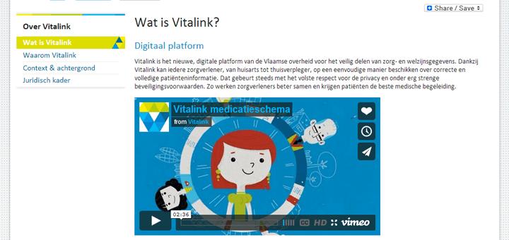 eHealth in Vlaanderen: Vitalink