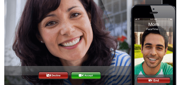Facetime standaard op elke iPhone of iPad (foto Apple)