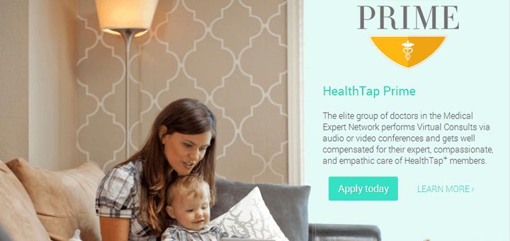De website van HealthTap: Amerikaanser dan dit wordt het niet