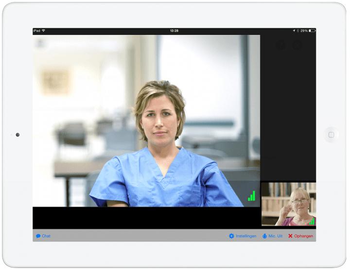 Een video-consult via PatientHub