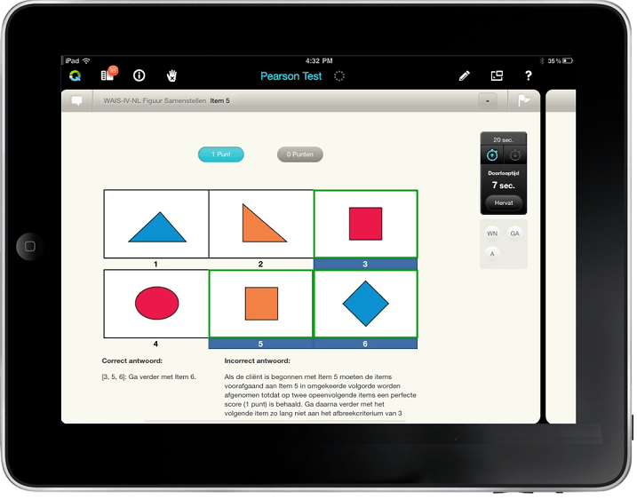 Q-interactive voorbeeld kindertest