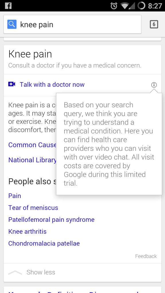 Screenshot van de Google service via Reddit