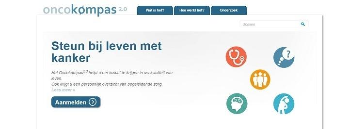Het Oncokompas2.0 helpt patiënten om inzicht te krijgen in hun kwaliteit van leven