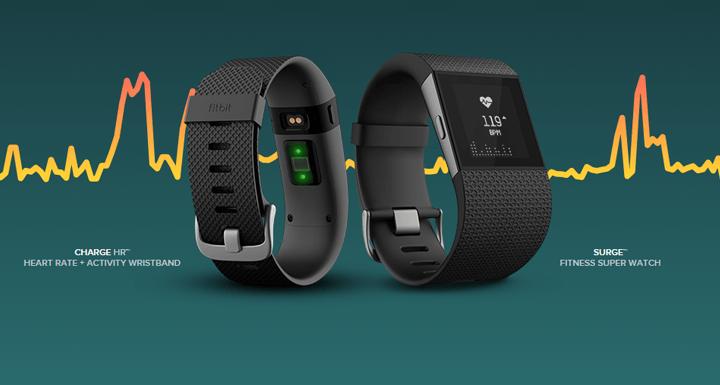 De Fitbit Charge HR en Surge meten 24 uur je hartslag