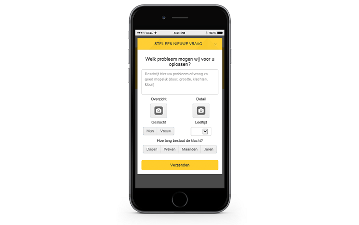Digitale dermatoloog app