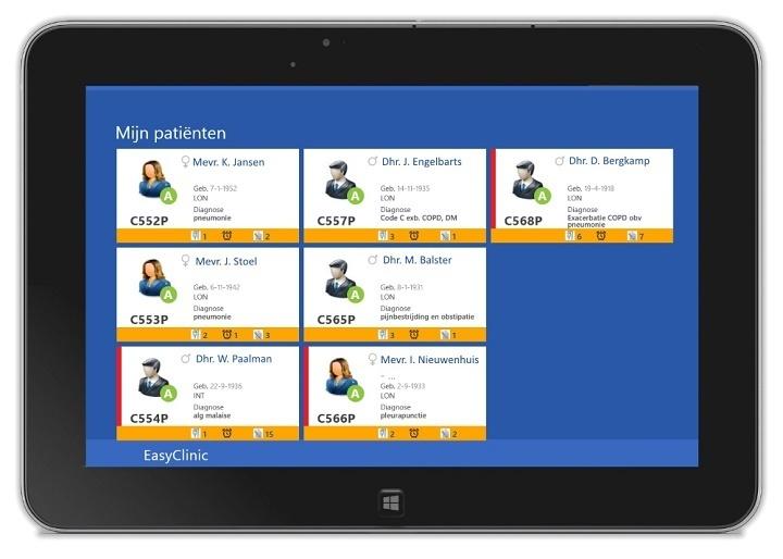 De app en tablet die in het Meander MC gebruikt worden