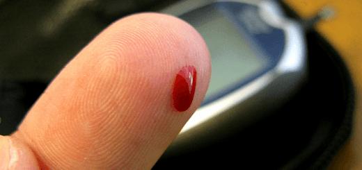 Bloed prikken om suiker in bloed te bepalen