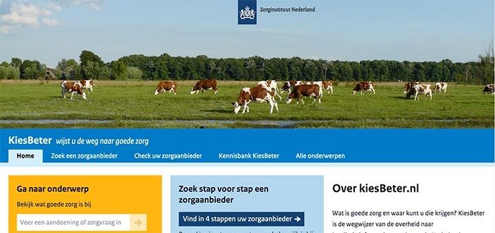 Kiesbeter.nl, de wegwijzer van de overheid met informatie over zorgverzekeringen, ziekenhuizen en medicijnkosten