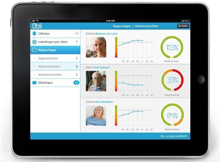 Het online portal van de Obli voor mantelzorgers en zorgverleners