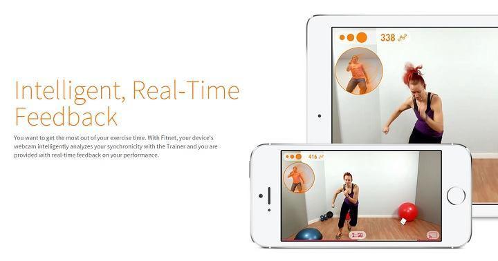 Fit.net voorziet van real time feedback tijdens het trainen