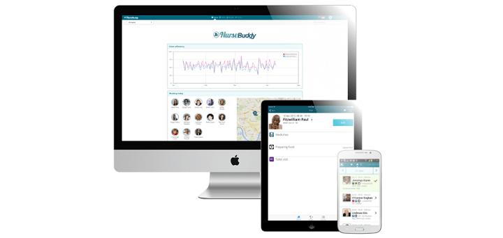NurseBuddy is bereikbaar via de pc, smartphone en tablet