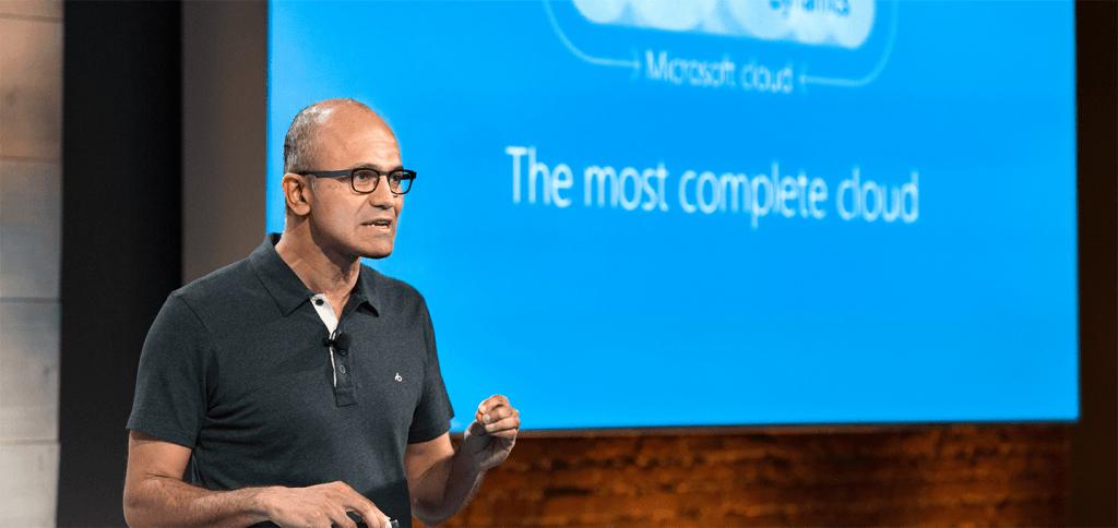 Microsoft CEO Satya Nadella zet vol in op clouddiensten
