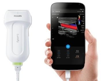Eén van Philips nieuwste digital health innovaties: Lumify. Een draagbaar echoapparaat voor de smartphone