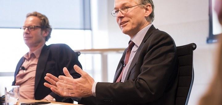 Jeroen Tas (links) en Frans van Houten (rechts)