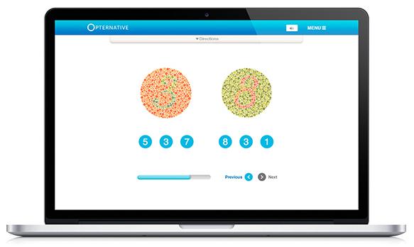 Een online oogmeting door Opternative
