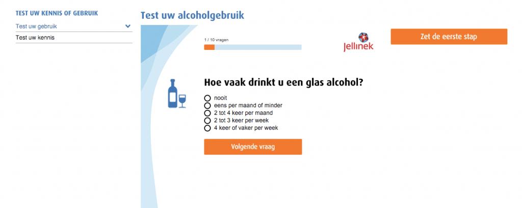 Voorbeeld van een zelfhulpmodule op Jellinek.nl
