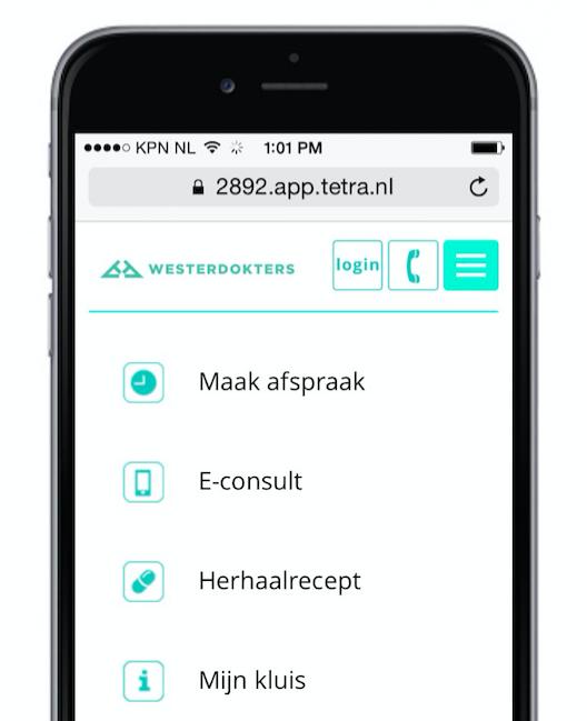 De nieuwe app van Westerdokters