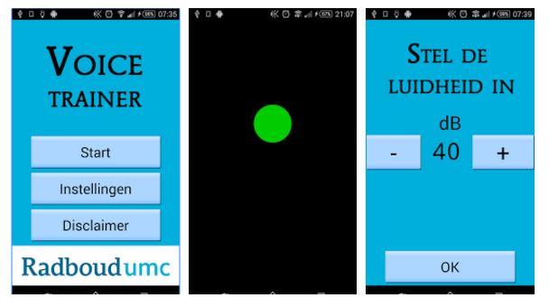 Voice Trainer app Radboudumc