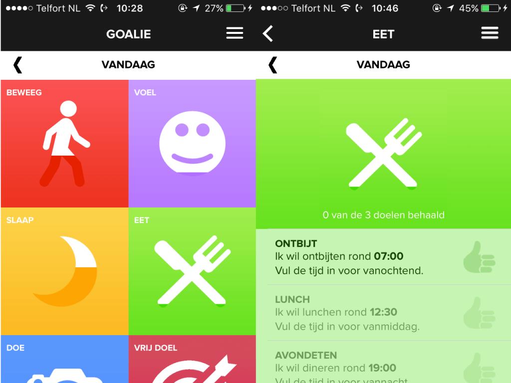 Goalie app voor de geestelijke gezondheidszorg