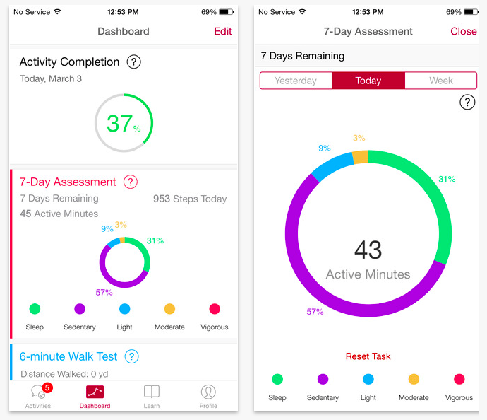 MyHeart Counts, een ResearchKit app ontwikkeld door Stanford University