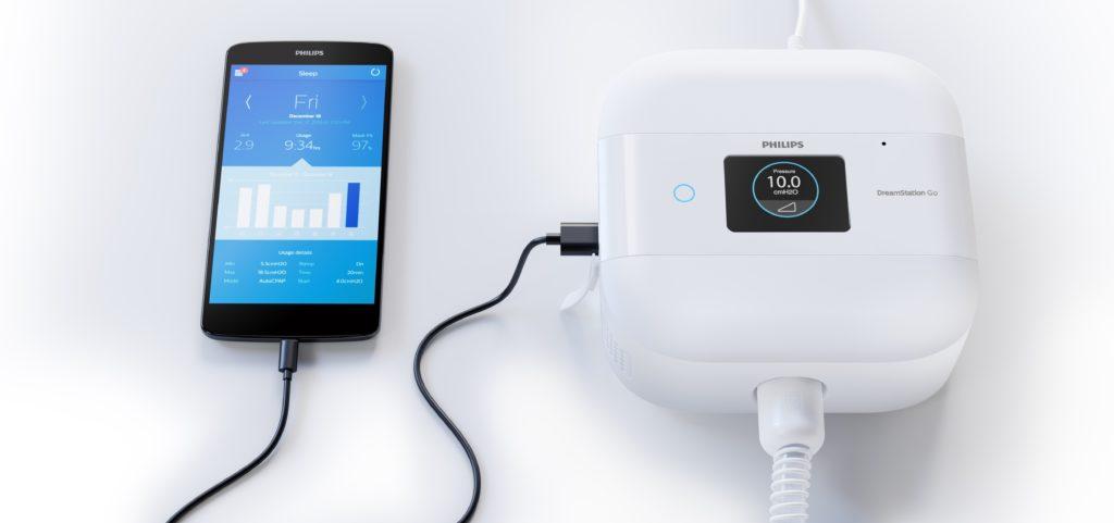 DreamStation Go, een apparaatje voor patiënten met obstructieve slaapapneu (OSA)