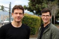 Mike Verhiel en Christoph Lynen (r) van Psylaris