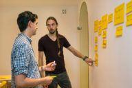 Rik van Duijn, app developer bij Inspire (r) - foto's Thijs Rooimans