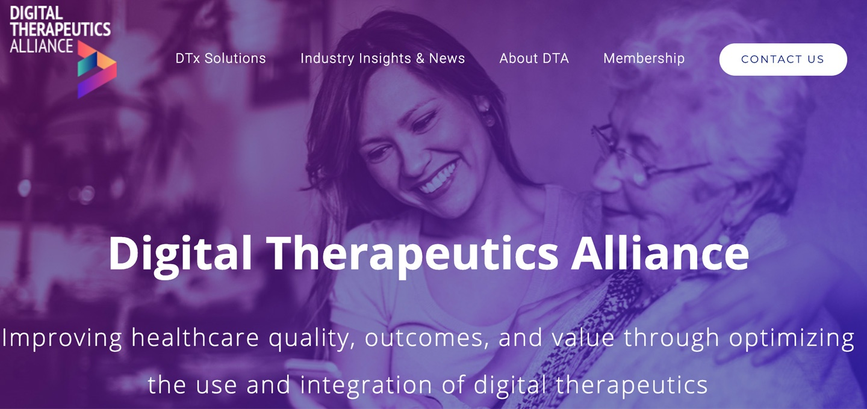 Startups en industrie werken samen in de non-profit Digital Therapeutics Alliance (DTx)
