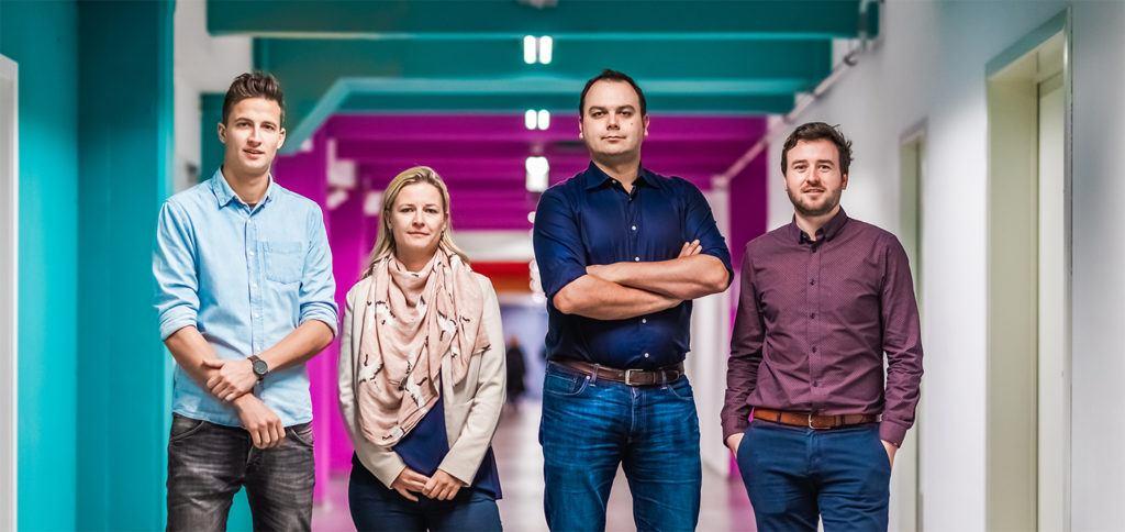 Fibricheck oprichters (Lars Grieten, CEO van FibriCheck 2e van rechts)