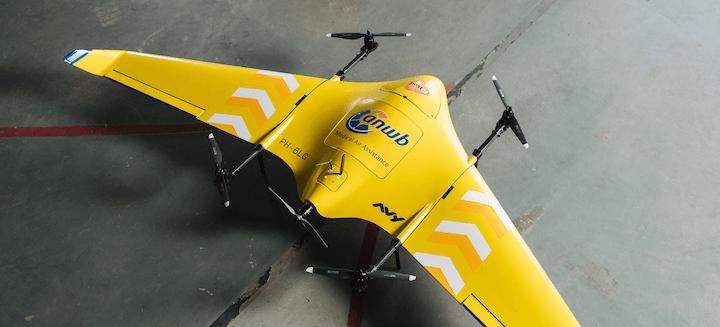 Medical Drone Service beeld via PostNL