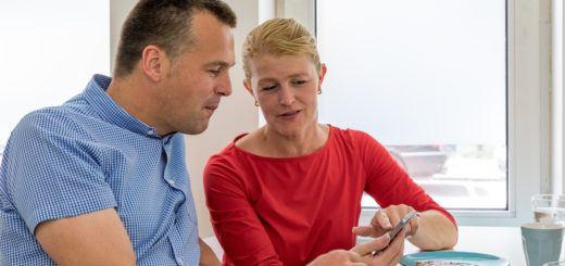 Digitaal contact met een zorgverlener (beeld: BeterDichtbij)