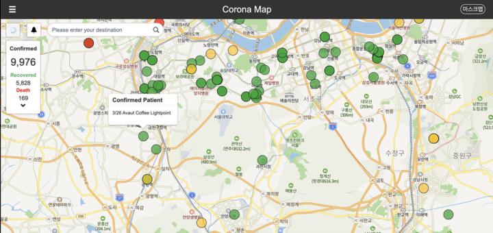 Zuid-Korea: transparantie over locatie van patiënten met coronavirus